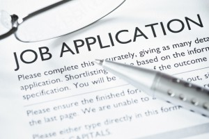 Close-up of Job Application