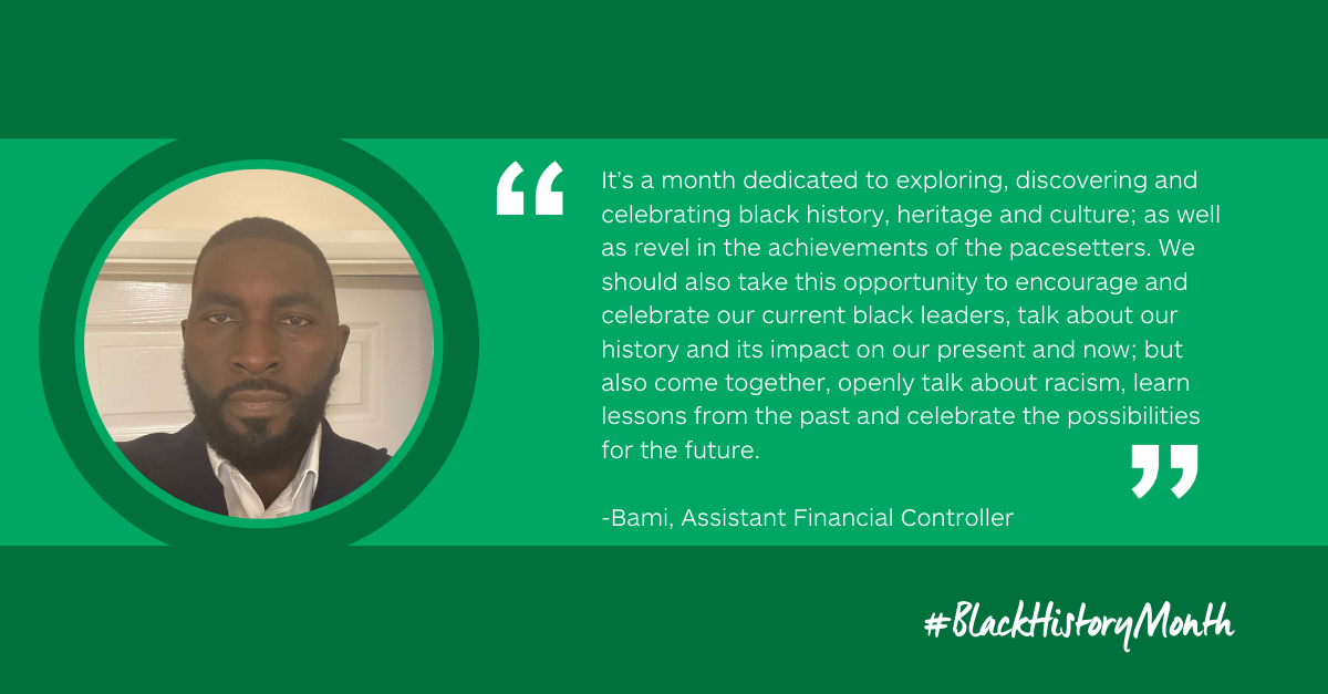 Bami's story: Black History Month - an opportunity to learn and look forward
