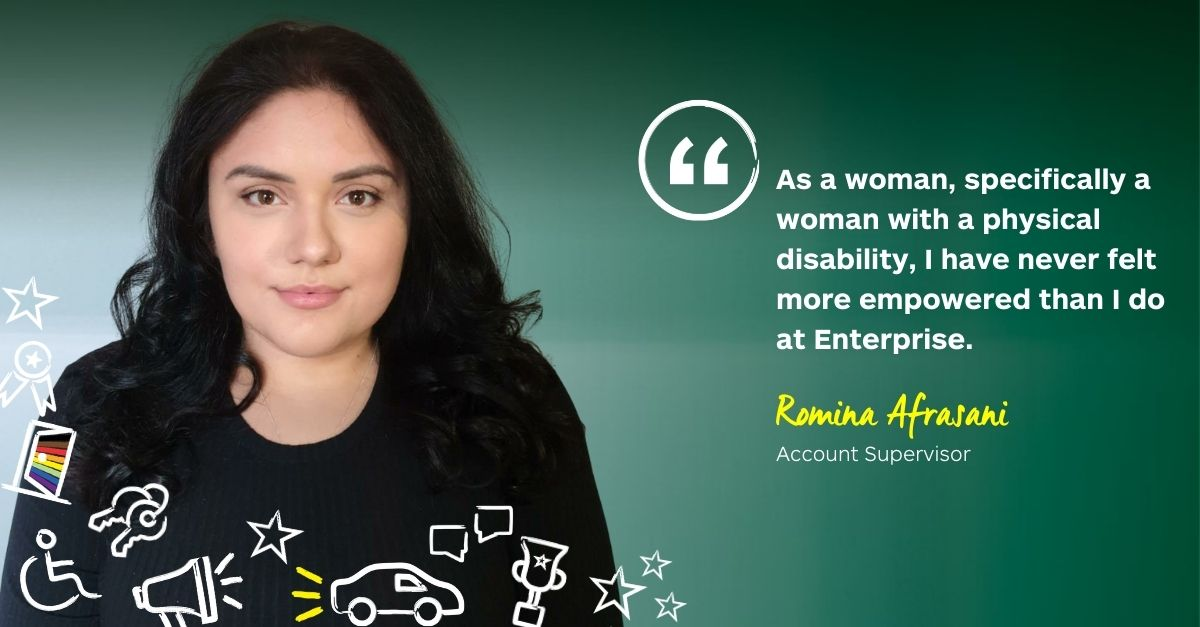 As a woman with a physical disability, I feel empowered at Enterprise
